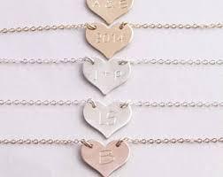 engraved heart necklace engraved heart necklace etsy