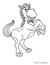 smiling horse coloring pages hellokids