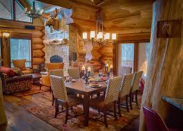 Log Dining Room Table 2013 Parade Home Moose Ridge Cabin Log Home Rustic Dining Room