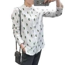 print blouses discount cactus print blouses stand collar blusa