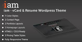 Resume Portfolio Template Iam Resume Portfolio Personal Responsive Wordpress Theme