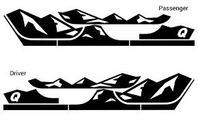 jeep cherokee decal quadratec 13135 0700 premium vinyl rocker panel mountain decal