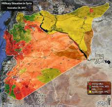 syria on map comparison situation in syria on november 20 and