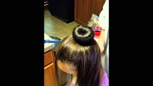 best hair bun for gymnasts youtube