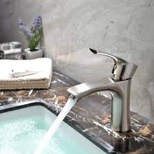 Bathroom Water Outlet Kingo Home Contemporary Stainless Steel Single Hole Lavatory