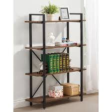 Steel Frame Bookcase Coaster Furniture Scaffold Bookcase Walmart Com