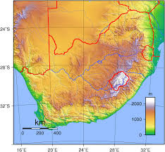 Topographical Map Of Usa by Detailed Topographical Map Of South Africa South Africa Detailed