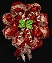 candy cane wreath christmas wreath red white wreaths poly mesh