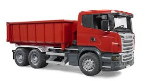 bruder fire truck bruder br1 16 scania r series tipping container truck 03522