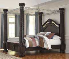 ashley furniture laddenfield poster canopy bed home improvement