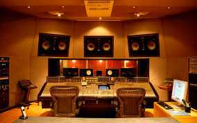 accordion doors in the studio acoustic panels and more