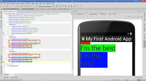 lesson how to build android app with linearlayout plus layout