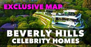 celebrity home addresses beverly hills celebrity homes map no more confusion