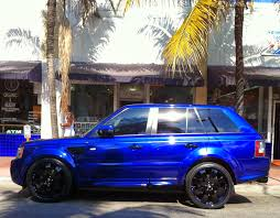 range rover black rims blue range rover black rims exotic cars on the streets of miami