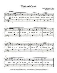 wexford carolr free christmas piano sheet music with lyrics