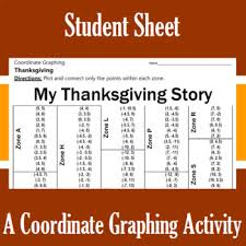 my thanksgiving story a coordinate graphing activity
