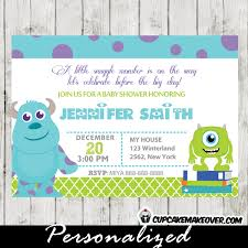 inc baby shower monsters inc baby shower invitation card personalized d5