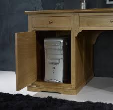 bureau informatique en bois superbe bureau ministre spécial informatique en chêne de style