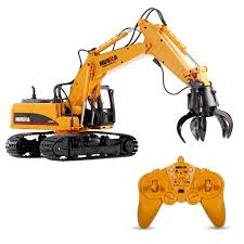 Radio Controlled Front Loader 1 10 Scale Rc Bulldozer Construction Hui Na Toys 1571 1 14 2 4ghz 16ch Remote Control Grab Loader