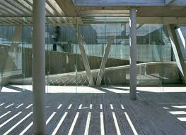 steel structure glass façade and concrete architecture of a