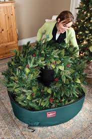 wreath storage bag in wreath storage