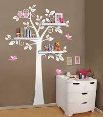 stickers pas cher chambre pas cher étagère murale arbre nursery stickers muraux étagères