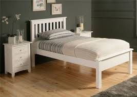 Solid Wood Bed Frame King Wood Bed Frames Shaker Solo White Wooden Bed Frame Lfe Single Bed