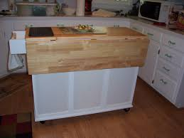 fetching brown molding wood movable kitchen islands with storage