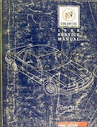 1988 buick regal repair shop manual original