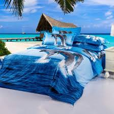 Cotton Bed Linen Sets - 3d dolphin bed sheets sets sale blue animal cotton bed sheets for