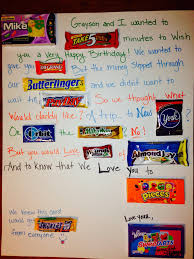 birthday card poem made from candy perfect for a candy lover