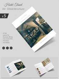 free templates for hotel brochures dazzling hotel travel a4 bi fold brochure template free