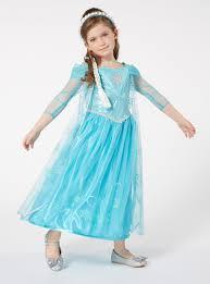 Elsa Costume Fancy Dress Kids Blue Disney Frozen Elsa Sound And Light Costume