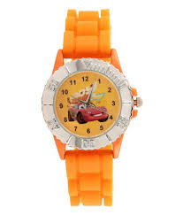 orange cars 25 off on disney orange cars analog watch for boys on snapdeal