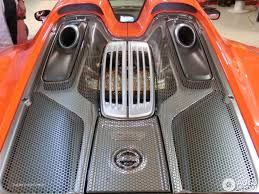porsche 918 engine orange porsche 918 spyder weissach package in monaco engine cover