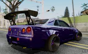 skyline nissan 2015 nissan skyline gt r r34 battle machine for gta san andreas