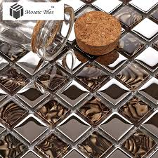Metallic Tile Backsplash by Tst Crystal Glass Tile Amazing Glass Mosaics Tile Kitchen