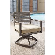 Outdoor Swivel Chair by Outdoor Dining Table Set With Swivel Chairs By Signature Design By