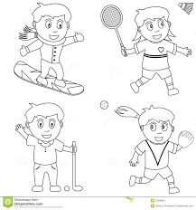 coloring sport for kids 5 stock photos image 12348813