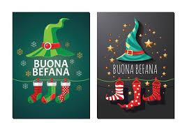greeting card of befana italian tradition