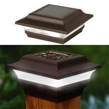 Led Solar Deck Lights - imperial 4x4 metal led solar post cap light