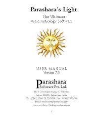 Parashara Light Parasher Light Hand Book Installation Computer Programs