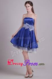 accent on waist prom cocktail dress in royal blue 2014