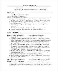 resume templates for medical assistants resume template for medical assistant spectacular templates