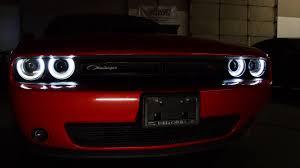 Dodge Challenger Xenon Headlights - 2014 dodge challenger custom rgb halo headlights youtube