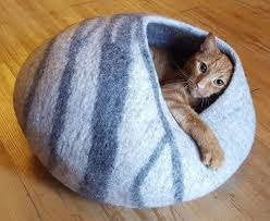 meowfia cat caves felted wool cat beds with style