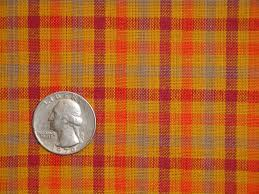 Home Decor Material cotton homespun material orange check material cotton material