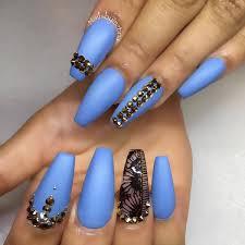 image result for matte blue stiletto nails nails pinterest