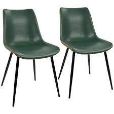 Dining Leather Chair Lumisource Black And Green Durango Vintage Faux Leather Dining
