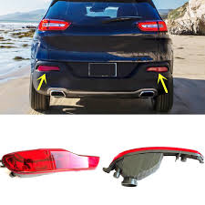 2016 jeep cherokee tail lights for jeep cherokee 2014 2016 red lens rear bumper reflector rear fog
